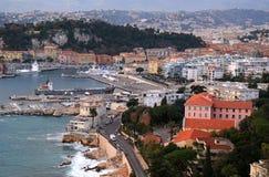 Ciudad de Niza en riviera francesa Foto de archivo