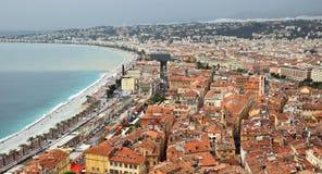 Ciudad de Niza - visión panorámica Fotografía de archivo libre de regalías