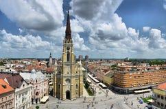 Ciudad de Novi Sad en la Vojvodina, Serbia - iglesia del nombre de Maria Imagen de archivo libre de regalías