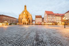 Ciudad de Nurnberg en Alemania imagenes de archivo