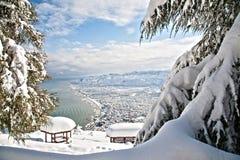 Ciudad de Ordu en invierno Foto de archivo libre de regalías