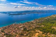 Ciudad de Orebic en Croacia Fotos de archivo libres de regalías