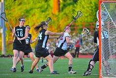 Ciudad de Oregon de las muchachas del lacrosse Imagenes de archivo