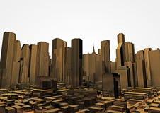 Ciudad de oro Imagen de archivo