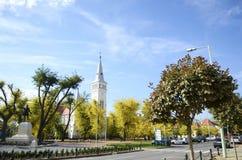 Ciudad de Oroshaza en Hungría fotografía de archivo