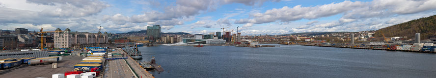 Ciudad de Oslo Fotos de archivo