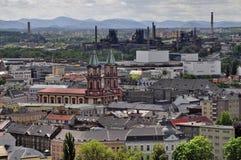 Ciudad de Ostrava Foto de archivo