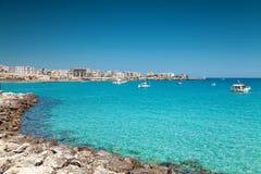 Ciudad de Otranto en Puglia Italia Foto de archivo libre de regalías