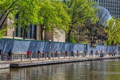 Ciudad de Ottawa cerca del canal Rideau imagenes de archivo