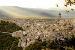 Ciudad de Pacentro (Italia) Fotos de archivo libres de regalías