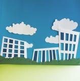 Ciudad de papel Foto de archivo libre de regalías