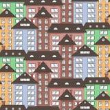 Ciudad de papel en el cielo. Imagen de archivo