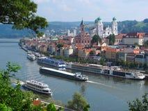 Ciudad de Passau Foto de archivo libre de regalías