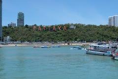 Ciudad de Pattaya Imagen de archivo libre de regalías