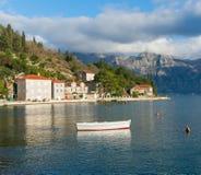 Ciudad de Perast, Montenegro Fotografía de archivo libre de regalías