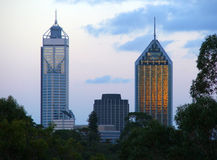 Ciudad de Perth Foto de archivo libre de regalías
