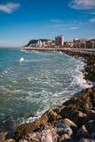 Ciudad de Pesaro en el mar adriático Foto de archivo libre de regalías
