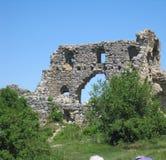 Ciudad de piedra medieval Imagen de archivo libre de regalías