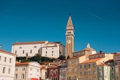 Ciudad de Piran, Eslovenia Imágenes de archivo libres de regalías