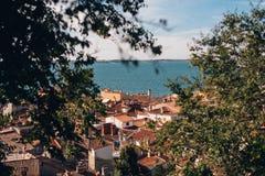 Ciudad de Piran, Eslovenia Imagen de archivo libre de regalías