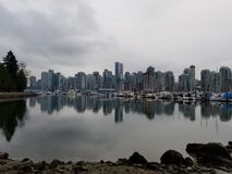 Ciudad de playa de Vancouver foto de archivo