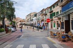 Ciudad de Port de Soller, Majorca Fotos de archivo libres de regalías