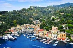 Ciudad de Portofino, Liguria, Italia imagenes de archivo