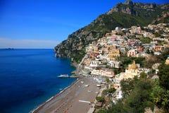 Ciudad de Positano, Amalfi Imágenes de archivo libres de regalías