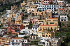 Ciudad de Positano, Amalfi Imagen de archivo libre de regalías