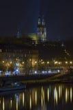 Ciudad de Praga en la noche Imágenes de archivo libres de regalías
