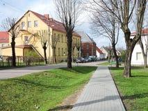 Ciudad de Priekule, Lituania Imagen de archivo