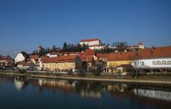 Ciudad de Ptuj, Eslovenia, Europa Central Imagenes de archivo