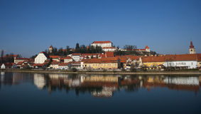 Ciudad de Ptuj, Eslovenia, Europa Central Foto de archivo libre de regalías