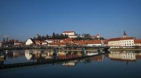 Ciudad de Ptuj, Eslovenia, Europa Central Imagen de archivo