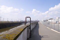 Ciudad de puerto de Hamburgo Imagenes de archivo