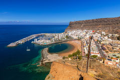 Ciudad de Puerto de Mogan en Gran Canaria Foto de archivo