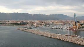 Ciudad de puerto marítimo Palermo, Italia almacen de video