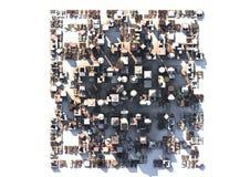 Ciudad de QR Imágenes de archivo libres de regalías