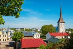 Ciudad de Rakvere Estonia, UE imagenes de archivo
