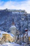 Ciudad de Rasnov, Rumania Foto de archivo