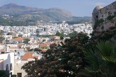 Ciudad de Rethymno crete imágenes de archivo libres de regalías