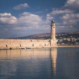 Ciudad de Rethymno en la isla de Creta, isla griega fotografía de archivo libre de regalías