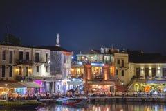 Ciudad de Rethymno en la isla de Crete en Grecia foto de archivo libre de regalías