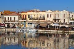 Ciudad de Rethymno en la isla de Crete en Grecia fotos de archivo libres de regalías