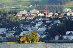 Ciudad de Richterswil imagen de archivo libre de regalías