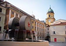 Ciudad de Rijeka foto de archivo