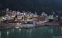 Ciudad de Rishikesh Fotografía de archivo