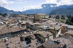 Ciudad de Riva del Garda Imagen de archivo