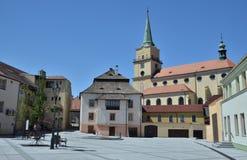 Ciudad de Rokycany cerca de Plzen Fotos de archivo libres de regalías