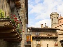 Ciudad de Rupit en España Imagenes de archivo